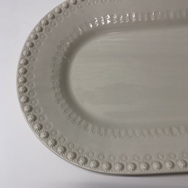 White Oval Ceramic Serving Platter. For Sale In Miami - Image 6 of 7