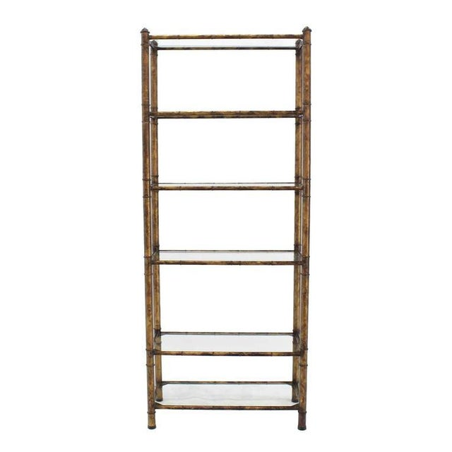 Early 20th Century Metal Faux Bamboo Shelf For Sale - Image 5 of 7