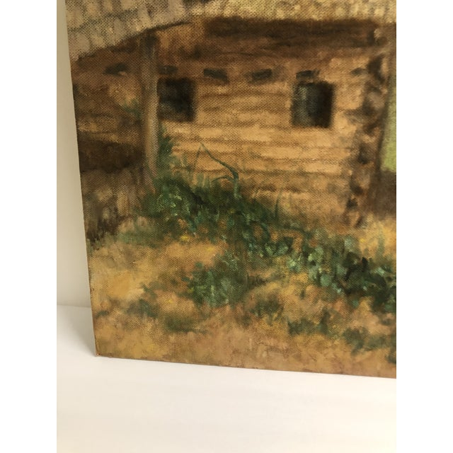 1950s Large Cabin Scene Oil by James Bone 1960 For Sale - Image 5 of 7