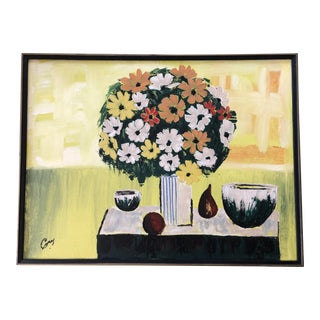 Mid Century Still Life Painting For Sale
