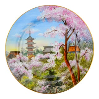 Colorful Japanese Porcelain Plate For Sale