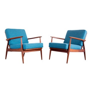 Danish Modern Spade-Arm Lounge Chair, 2 Available For Sale