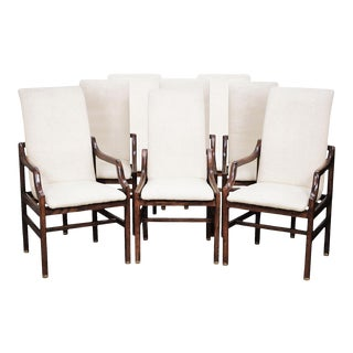 Vintage Henredon Dining Chairs in Walnut - Set of 8 For Sale
