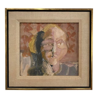 """Victor Moscoso Painting """"Sick Girl"""" For Sale"""