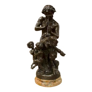 Bronze English Pan Statue For Sale