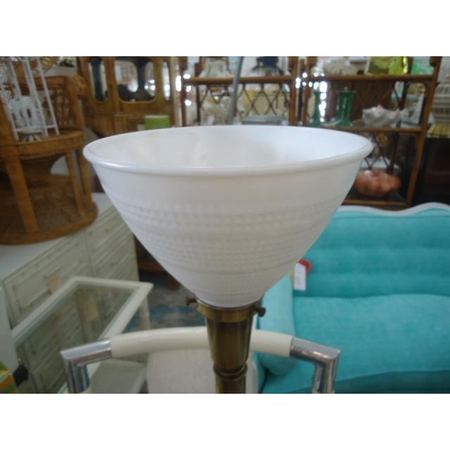 Mid-Century Turquoise Glazed Lamp - Image 7 of 9
