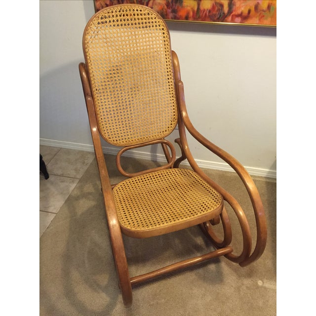 Vintage Mid-Century Thonet Style Bentwood Rocking Chair