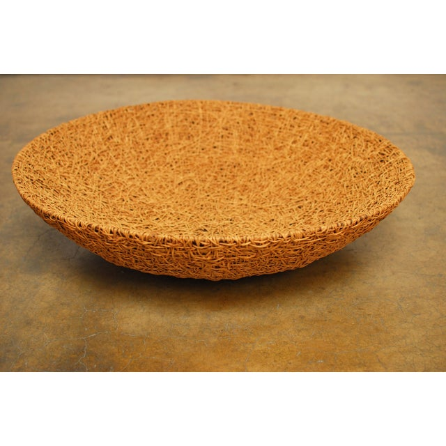 Tan Woven Grass Bowl - Image 3 of 4