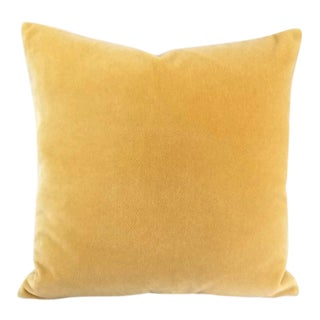 Yellow Mohair Velvet Pillow Cover For Sale