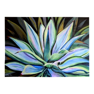 """Agave Strong"" Impressionist Painting by Geoff Greene For Sale"