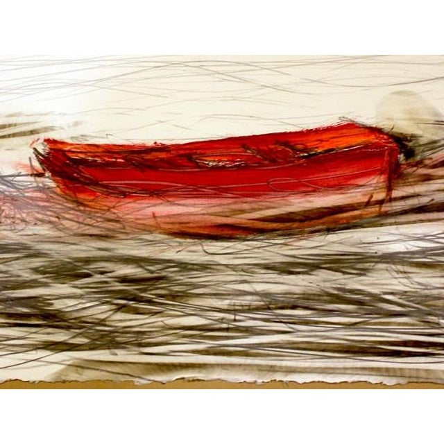 Red Life Boat is a Carbon Smoke and Paint artwork on paper by Hawaii artist, Wayne Zebzda. It is unframed. Wayne Zebzda...