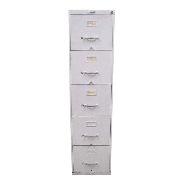 Standard Metal 5-Drawer File Cabinet For Sale
