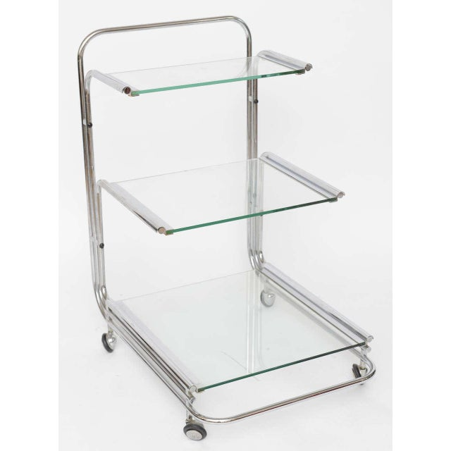 Fontana Arte Chrome Bar Cart - Image 7 of 10
