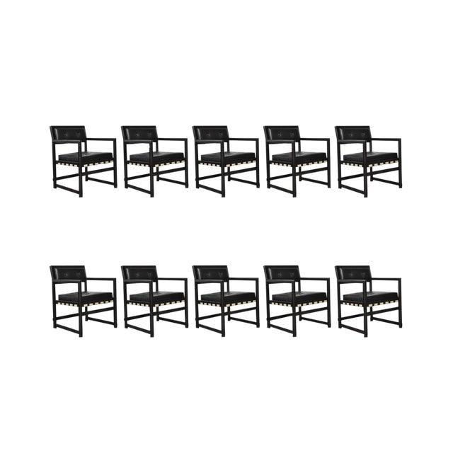 Set of Ten Dunbar Dining Armchairs by Edward Wormley For Sale