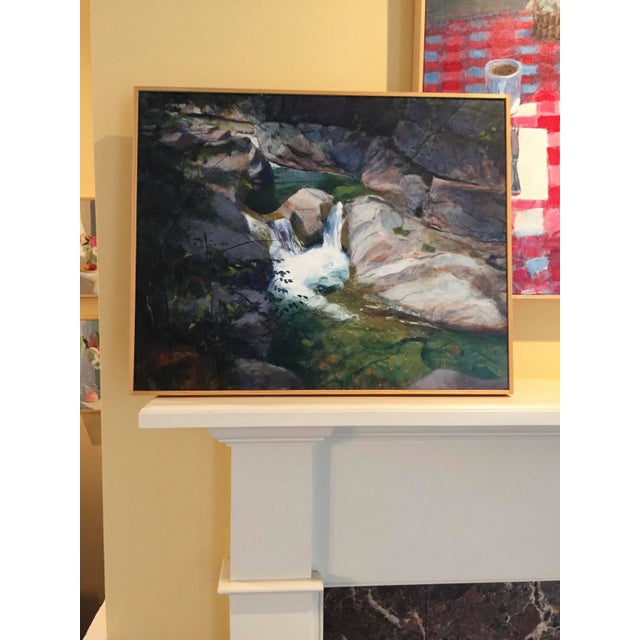 """Stephen Remick """"Vermont Waterfall, Warren Falls"""" Contemporary Painting For Sale - Image 9 of 11"""