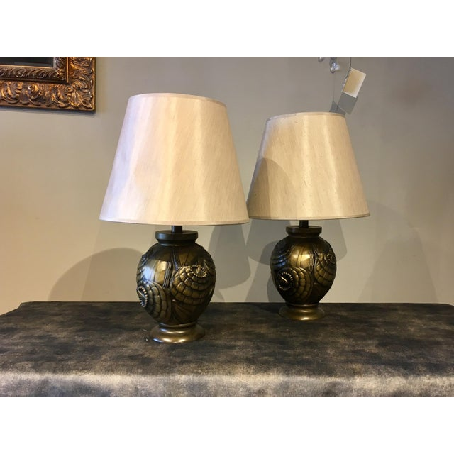 Early 20th Century Frederick Cooper Deco Table Lamps - a Pair For Sale - Image 5 of 5