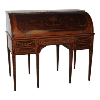 English Edwardian Cylinder Desk