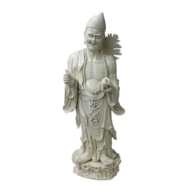 Chinese Porcelain Chan Master Daoji Buddha Beggar Figure For Sale