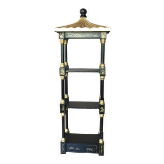 Chinoiserie Pagoda Shelf Storage For Sale