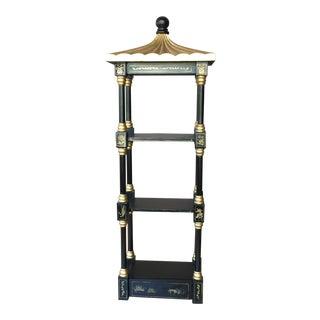Chinoiserie Pagoda Shelf Storage For Sale