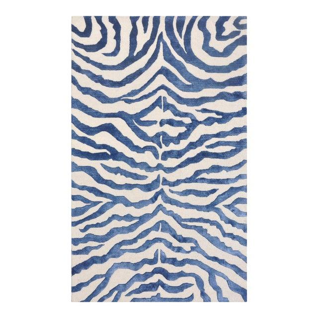 Bamboo Silk & Wool Zebra Area Rug - 5' X 8' - Image 1 of 5