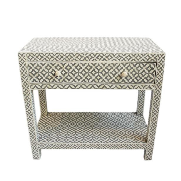 Grey Inlay Side Table - Image 1 of 3
