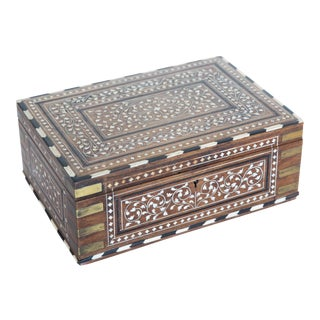 Antique Anglo-Indian Rosewood Dressing Box For Sale