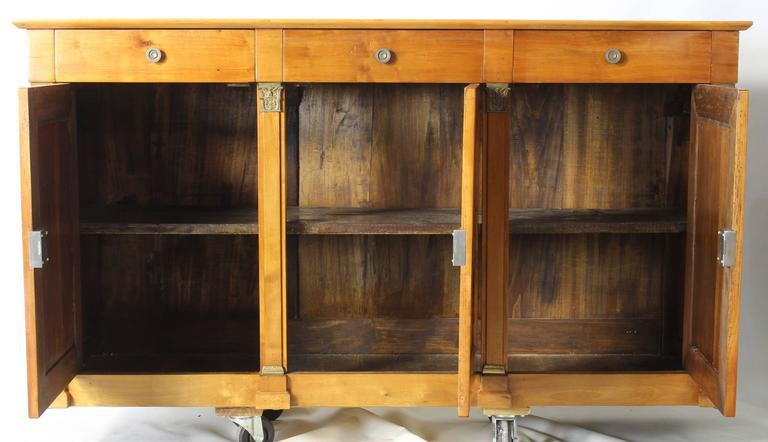 19th Century French Cherrywood Buffet Cabinet   Image 3 Of 7