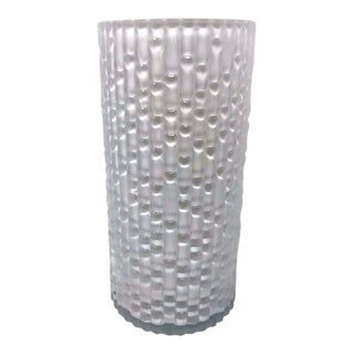 Mid 20th Century Narumi Fantasy Cased Glass Bamboo Vase For Sale