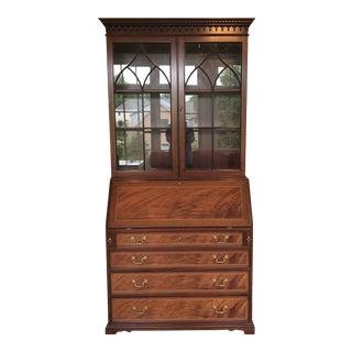 Traditional Joal Mahogany Secretary Desk For Sale