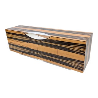 Contemporary Wood Credenza For Sale