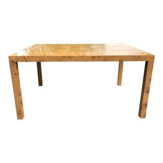 Milo Baughman Burl Wood Dining Table For Sale