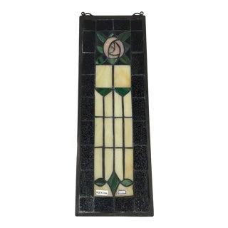 Meyda Tiffany Rose Stained Glass Handmade Window Panel For Sale
