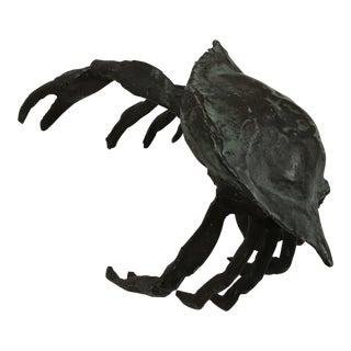 Bronze Crab Sculpture