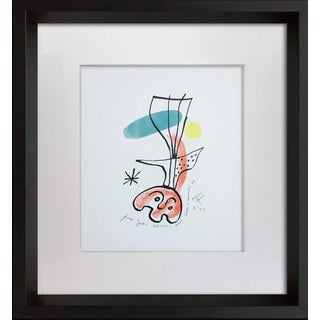 1950s Vintage Joan Miro Original Signed & Inscribed Lithograph For Sale