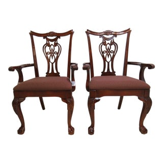 Pennsylvania House Chippendale Cherry Dining Chairs - A Pair