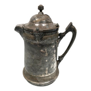 1920s Art Nouveau Silverplate Ice Water Pitcher For Sale