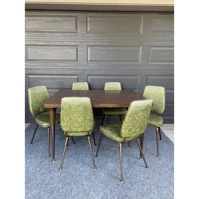 Chromecraft Mid-Century Modern Green Upholstered Dinette Set - 7 Pieces For Sale - Image 11 of 11