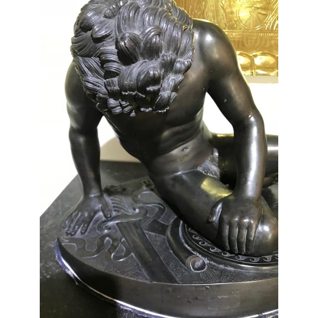 """19th Century """"The Dying Gaul"""" Bronze Statue Signed M Amadoi N 'Napoli' For Sale - Image 9 of 13"""
