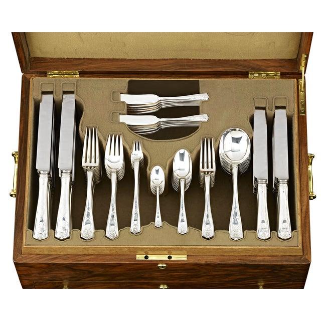 Art Nouveau Tiffany & Co. Winthrop Silver Flatware Service For Sale - Image 3 of 8