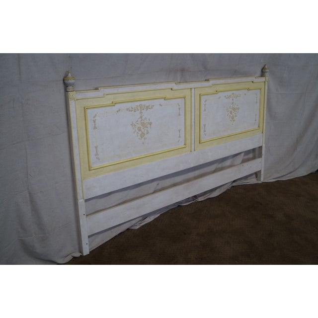 Widdicomb Hand Painted French Style King Headboard - Image 3 of 10