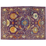 Image of Purple Contemporary Turkish Oushak Rug - 10'2 X 13'10 For Sale