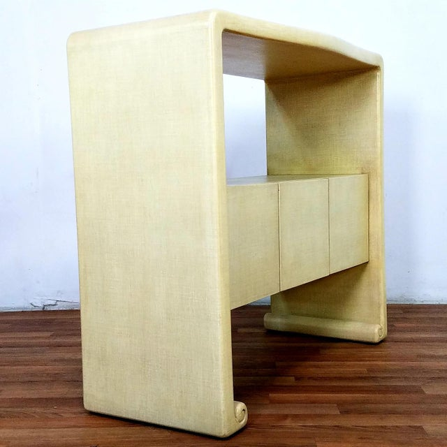 Wood Mid-Century Harrison Van Horn Style Console Sofa Table For Sale - Image 7 of 13
