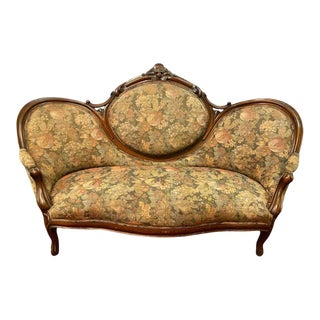 19th Century Victorian Belter Style Canopy or Love Seat, Sofa For Sale