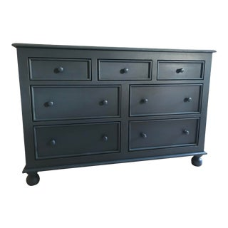 Blue Solid Wood Low Boy Dresser by Bradshaw Kirchofer For Sale