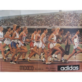 1968 Mexico Olympics 10,000 Dash (Running/Athletics) Poster - Adidas For Sale