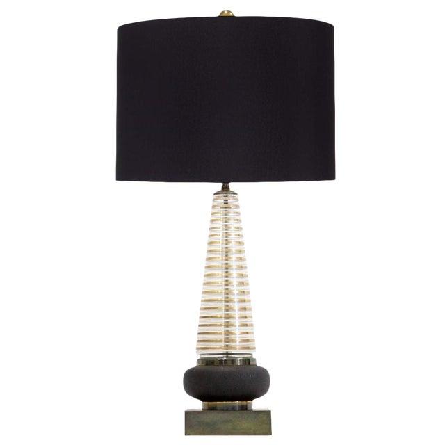 Mid Century Modern Glass Lamp - Image 1 of 8