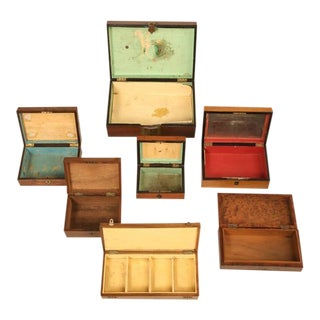 Collection of French Boxes - 7 pieces For Sale