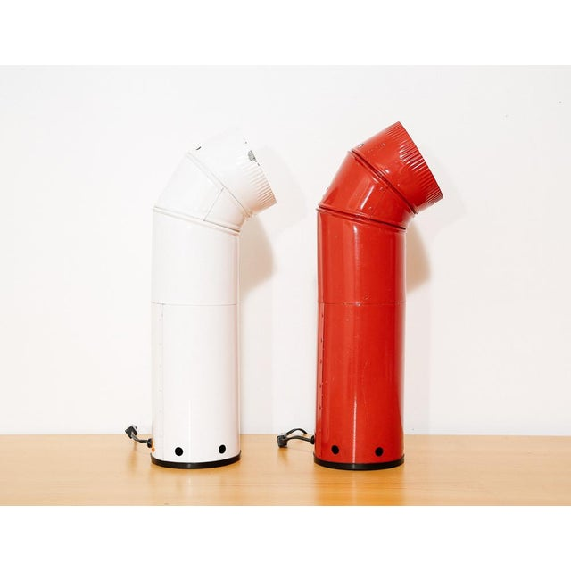 Pair of Industrial Tubular Table Lamps For Sale In New York - Image 6 of 7
