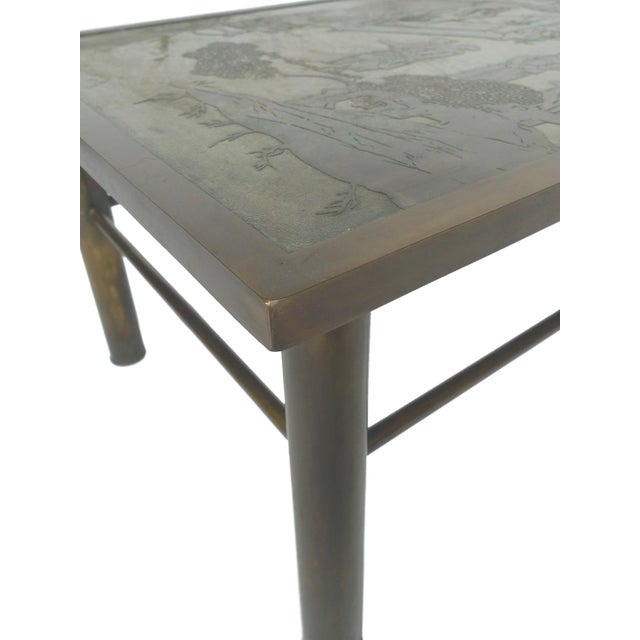 Philip & Kelvin Laverne Etched Bronze Coffee Table For Sale - Image 9 of 11